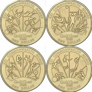 2018 ONE DOLLAR X 4 - *COMMONWEALTH GAMES SET*  BRILLIANT UNCIRCULATED CONDITION