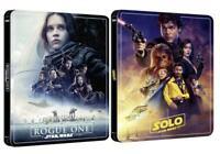 Star Wars Rogue One + Solo A Star Wars Story 4K UHD Bluray SteelBook Presale