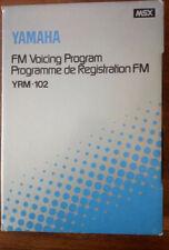 YAMAHA YRM-102 FM VOICING PROGRAM CARTRIDGE CX5M MSX MIDI SYNTHESIZER