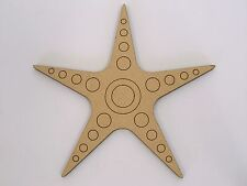 One MDF Wooden Marine Starfish Shape 20cm High Kids Craft DIY Paint Mobile