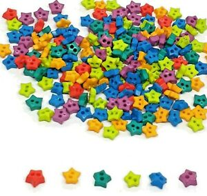 200 pcs tiny star buttons size 4 mm mix colors for doll crafts sewing costume