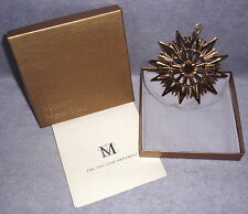MMA 2002 Gold Vermeil Star Sterling Silver Christmas Ornament Pendant Medallion