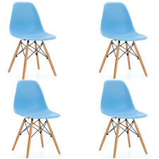 PACK 4 sillas SILLA TOWER WOOD COLOR AZUL