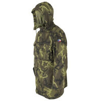 Used Czech Army M95 Green Camo Combat Military Field Jacket Parka Unlined