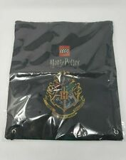 Lego Harry Potter Black Drawstring Bag with Crest New in Package
