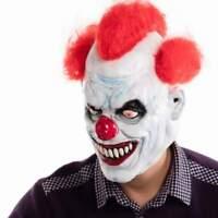Halloween Evil Clown Mask Adult Latex Costume Fancy Dress Party Scary Joker Face