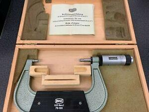 Mauser Bügelmessschraube-Mikrometer 75-100 in Holzbox (2)