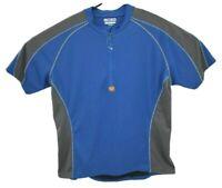 Pearl Izumi Mens 1/4 Zip Cycling Jersey Sz Large Blue Stretch Lightweight