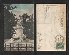 1907 HEINRICH HEINE FOUNTAIN 161st ST NEW YORK UDB UNDIVIDED BACK POSTCARD