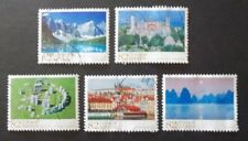 JAPAN USED 2015 UNESCO WORLD HERITAGE 5 VALUE COMPLETE SET SC# 3804 - 3808