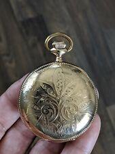 Antique columbus watch co. 18s Beautiful Hunter Case pocket watch Running!!