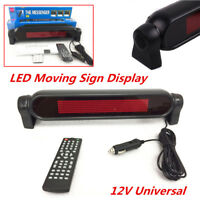 12V Car Dash Scrolling LED Panel Display Editable Advertising Sign W/ Controller