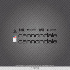 01029 Cannondale R700 Bicycle Stickers - Decals - Transfers - Black