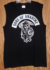 SON'S OF ANARCHY CLASSIC ROCKER REAPER SLEEVELESS  T-SHIRT - EXTRA LARGE SHIRT