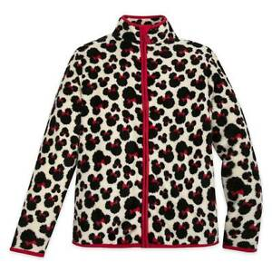 NWT Disney Store Minnie Mouse Fleece Jacket Women Adult S,M,L,XL,2XL