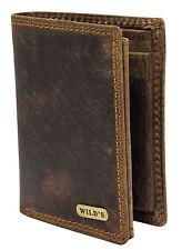 Braune Herren Brieftasche aus Vintage Leder Geldbörse Portemonnaie Lederbörse