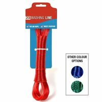 20m Extra Strong Steel Clothes Washing Line Core Lasting Long Reinforced Durable