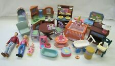 Used Fisher Price Loving Family Dollhouse FURNITURE ACCESSORIES LOT #6 for PLAY