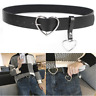 Women Fashion Leather Metal Buckle Belt Waistband Accessories Black Heart Gift