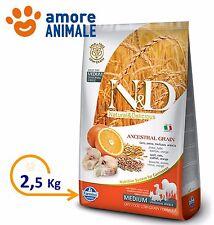 Farmina N&D Low Grain Adult Medium Merluzzo e Arancia da 2,5 Kg Crocchette cani