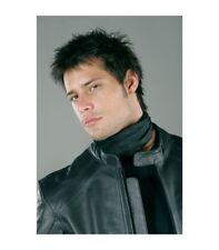 Foulard Gangster per motociclisti nero e bianco realizzato in seta trattata