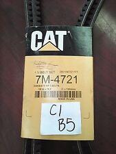 Genuine OEM Caterpillar CAT V-Belt Set 7M-4721    V