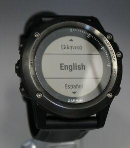 Garmin Fenix 3 HR Sapphire Sports Watch *Untested*  No charger