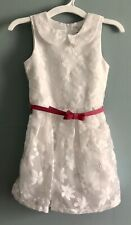 Girl's Embroidered White Floral Lace Dress w/ Pink Belt Children's Place Size 6