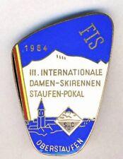 1964 FIS International SKI CONTEST pin badge STAUFEN POKAL Oberstaufen SKIING