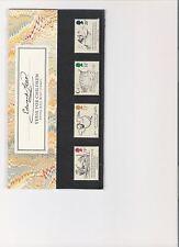 1988 ROYAL MAIL PRESENTATION PACK DEATH OF EDWARD LEAR MINT DECIMAL STAMPS