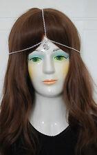 Silver * Pentacle Pentagram Star * Charm,3 Strand Head Chain,HEAD PIECE Headband