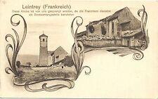 Leintrey / Frankreich, zerschossene Kirche, Beobachtungsposten d. Franzosen