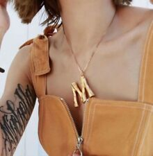 Gold Plated Bamboo Initial Necklaces Other Bloggers Stories Celine