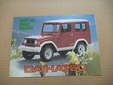 1980's DAIHATSU TAFT F20 F50 4x4 Brochure Prospekt Catalogue Dépliant French