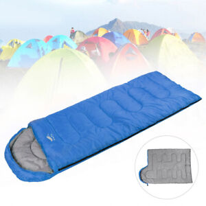 Outdoor Camping Schlafsack Mumienschlafsack -10°C-15°C Winterschlafsack Blue DHL