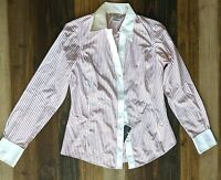 Brooks Brothers 346 NWT Blouse Women's Pink/White Striped Sz 6 MSRP $69.50