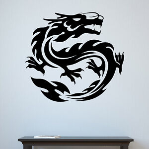 Oriental Chinese Dragon Wall Sticker Decal Transfer Home Bedroom Matt Vinyl UK