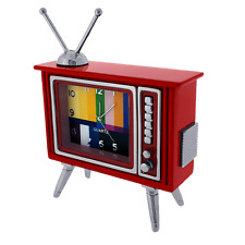 TELEVISION MINIATURE RETRO TUBE TV HOME ENTERTAINMENT COLLECTIBLE MINI CLOCK