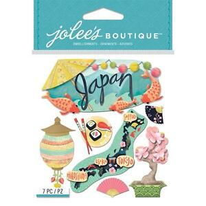 Scrapbooking Crafts Stickers Jolee's Dimensional Japan Island Tokyo Sushi Title