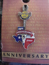 HARD ROCK CAFE*HOUSTON,TEXAS*20TH ANNIVERSARY STAFF*PIN*BRAND NEW*ON CARD*IN BAG