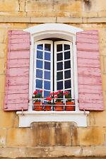Splendido francese FINESTRA PERSIANE IN PROVENZA #825 foto su tela Wall Art A1