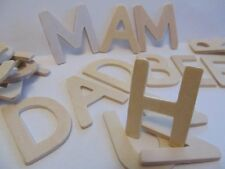 120 Wooden Capital Letters 4.5cm Tall and 4mm Thick Kids B Crafty Games Sheet