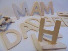 120 en bois lettres majuscules 4.5cm de hauteur et 4mm d'épaisseur + kids b crafty games sheet