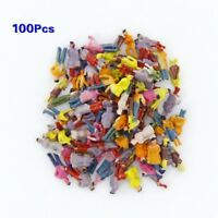 New 100pcs Painted Model Train People Figures Scale N (1 to 150) W1J4