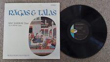 RAVI SHANKAR - RAGAS & TALAS - U.S. PRESS HINDUSTANI CLASSICAL LP - 1964