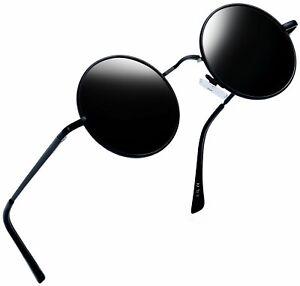 Small Black Round Retro Sunglasses Driving Fashion Circle Glasses Men Steampunk