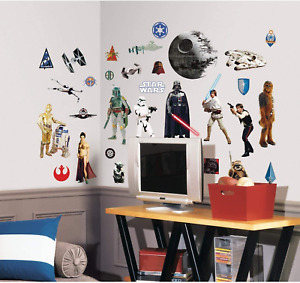 RoomMates Star Wars Classic Sticker Wand Deko Wandkleber Aufkleber Wandtattoo