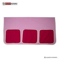 Bett Tasche Stofftasche für Hochbett Bettzubehör pink Stoff Kinderbett Vorhang