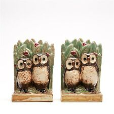 SCARCE PAIR DOULTON LAMBETH HARRY SIMEON OWL BOOK ENDS 20 C