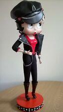 Rare Wonderful Danbury Mint Betty Boop Collectable Porcelain Biker Doll Figurine